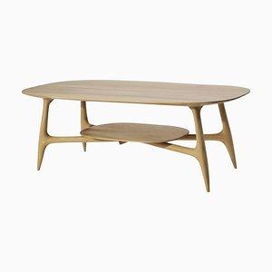 Table Basse Stix avec Plat, Sculptée à la Main par Cedric Breisacher