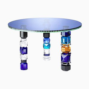 Hand-Sculpted Detroit Contemporary Crystal Table