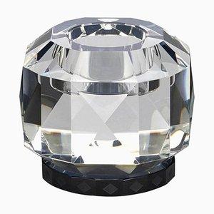 Schwarze Texas Kristallglas T-Lampe aus handgemeißeltem Kristallglas in zeitgenössischer Optik