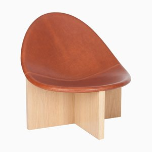Cognac Nido Lounge Chair by Estudio Persona