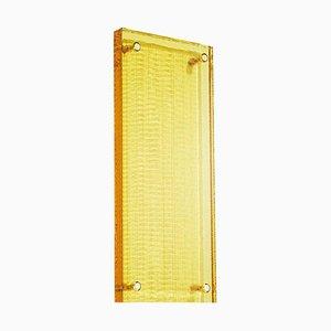 Wandlampe aus gelbem Kristallglas, handgefertigt aus zeitgenössischem Kristallglas