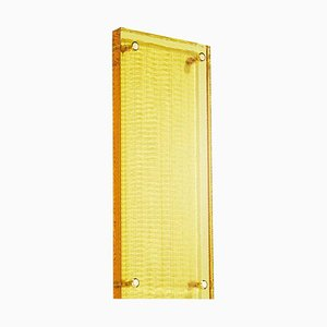 Yellow Crystal Wall Suspension, Hand-Sculpted Contemporary Crystal