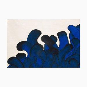 Blauer Anémone Teppich, François Dumas