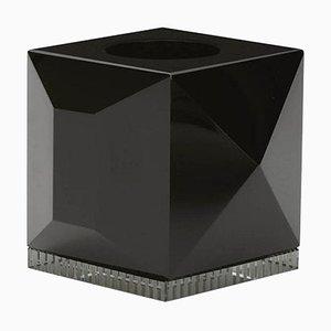 Schwarze Ophelia Kristallglas T-Lampenfassung aus handgemeißeltem Kristallglas