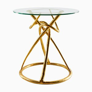 Brass Dining Table, Gordian Node, Misaya