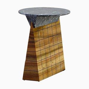 Tavolino Leopoldine in noce e marmo di Kaaron