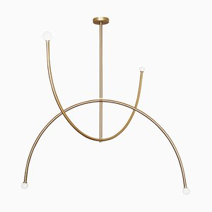 Quadratische Messing '' Double Arch '' Hängelampe in Kreisform