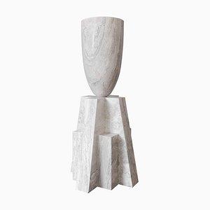 Babel Vase aus Marmor, Arno Declercq