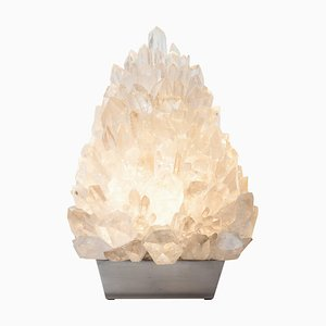 Meseta Ice, White Rock Crystal, Table Lamp, Demian Quincke