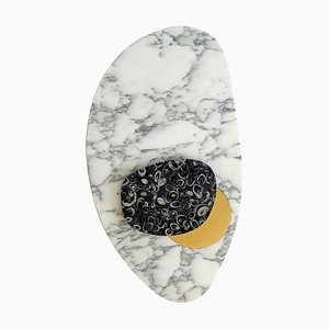 Wall Lamp in Marble and Brass, Sébastien Caporusso