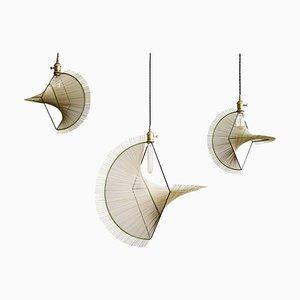 Three Ryar Light, Umbrella Sedge Handcrafted Pendant