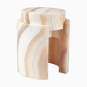 Push Alabaster Side Table by Omar Chakil