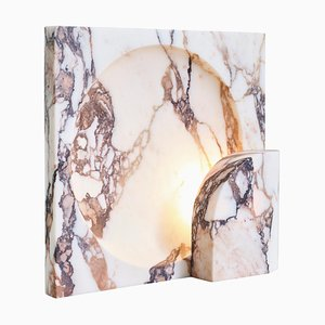 Block Sconce in Calacatta Viola Marble by Henry Wilson