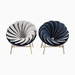 Pair of Quetzal Fauteuil by Marc Venot