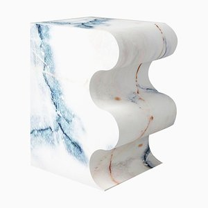 Paonazzo Marble Sculpted Stool by Pietro Franceschini