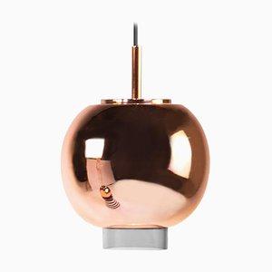 Lampe à Suspension en Céramique et Cuivre par Eric Willemart