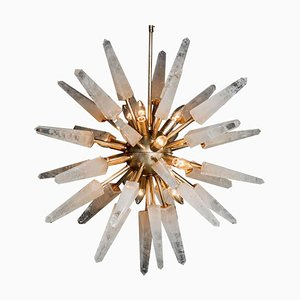 Natural White Quartz Sputnik, Iconic Pendant Lamp