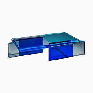 Schöner blauer Couchtisch von Charly Bounan