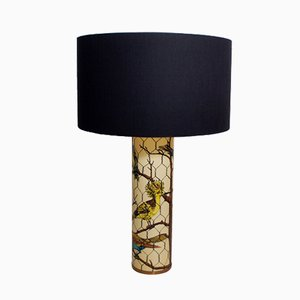 Lámpara de mesa con pájaros de Piero Fornasetti, 1950
