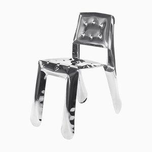 Chippensteel 0.5 Armlehnstuhl aus poliertem Edelstahl 'limitierte Edition', Zieta