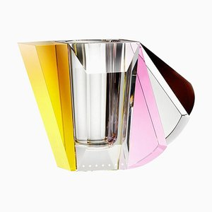 NYC Contemporary Vase, Hand-Sculpted Contemporary Crystal
