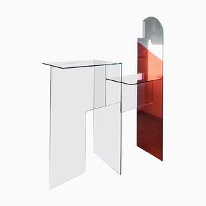 Epos Table aus Spiegelglas von Jan Farn Chi