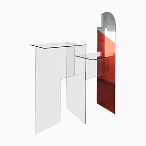 Mirrored Glass Contemporary Elaps Table by Jan Farn Chi