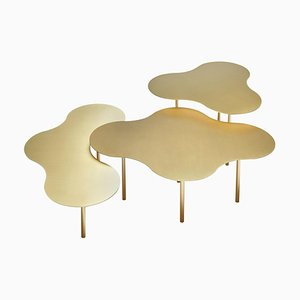 Brass Coffee Table Ensemble of 3, Sebastian Scherer