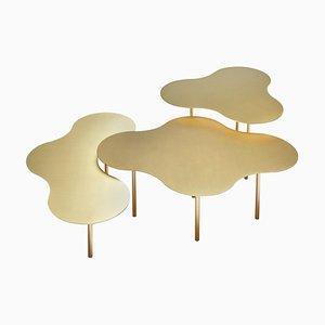 Set da tavolino da caffè in ottone di Sebastian Scherer