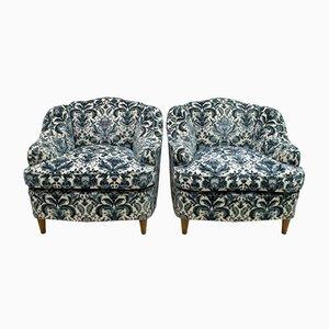 Italienische Mid-Century Sessel im Stil von Gio Ponti, 1960er, 2er Set