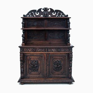 Antique Oak Chest of Drawers, 1880s