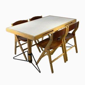 Esstisch & Stühle Set von Marc Held für IBM Montpellier, 1983, 5er Set