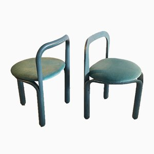 Blue Velvet Model 320 Side Chairs by Geoffrey Harcourt for Artifort, 1970s, Set of 2