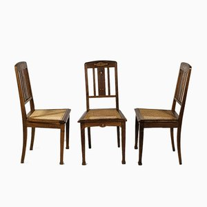 Art Deco Side Chairs, Set of 6