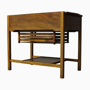 Vintage Scandinavian Walnut Sewing Table