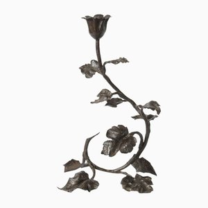 Art Nouveau Wrought Iron Candleholder by Louis Van Boeckel
