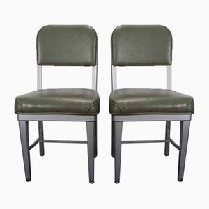 Vintage Industrial Dining Chairs from Harvard Industry, 1970s, Set of 2