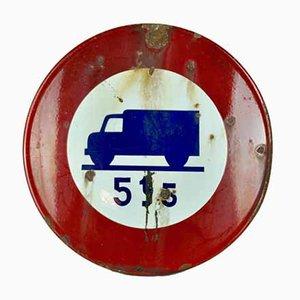 Emailliertes Metall Verkehrszeichen, 1964