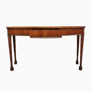 19th Century Satinwood Serpentine Serving Table