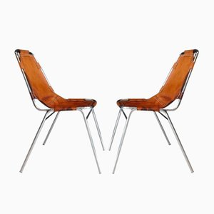 Les Arcs Side Chairs by Charlotte Perriand, 1960s, Set of 2