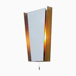 Beleuchteter Messing Farbiger Spiegel von Mathieu Matégot für Artimeta, 1950er