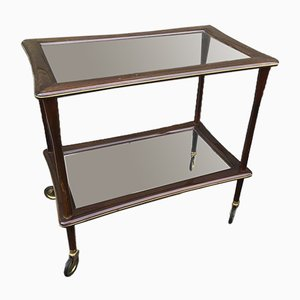 Art Deco Rosewood Service Bar Cart, 1950s