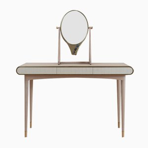 Oriette Vanity Table Bleached Oak by Felice James