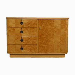 Art Deco Maple and Birch Chest of Drawers