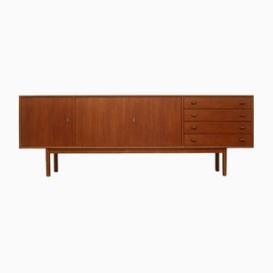 Danish Teak Sideboard with Leather Handles, 1960s