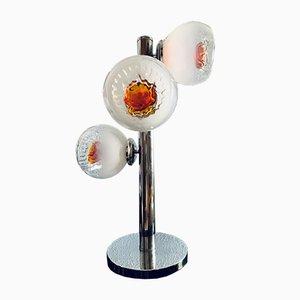 Murano Glas Tischlampe von Mazzega, 1970er