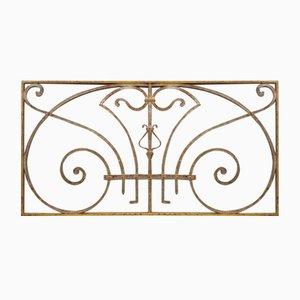 Art Nouveau Gitterrost oder Gitter aus Schmiedeeisen