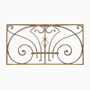 Art Nouveau Wrought Iron Window Grille or Fence Grille