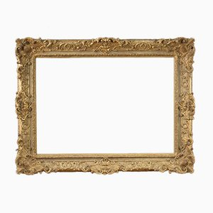 French Gilded Wood and Plaster Frame, 1920s
