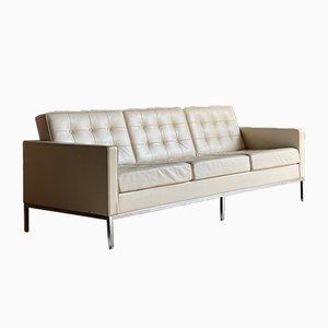 Canapé 3 Places en Cuir par Florence Knoll Bassett pour Knoll Inc. / Knoll International, 2000s